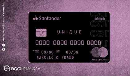 cartão de crédito Santander Unique Mastercard Black